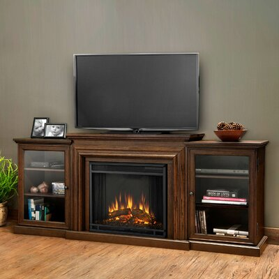 Frederick TV Stand with Electric Fireplace Color: Chestnut Oak