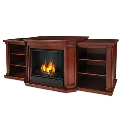 Valmont TV Stand with Gel Fireplace Finish: Dark Mahogany