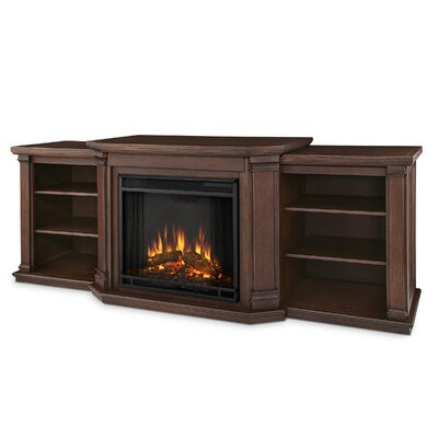 """Real Flame Valmont 75.5"""" TV Stand with Electric Fireplace - Finish: Chestnut Oak at Sears.com"""