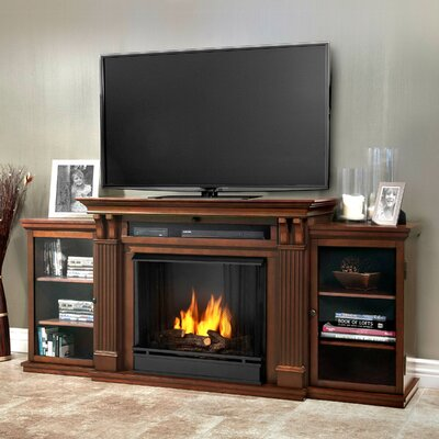 Calie 67 TV Stand with Gel Fireplace Finish: Dark Espresso