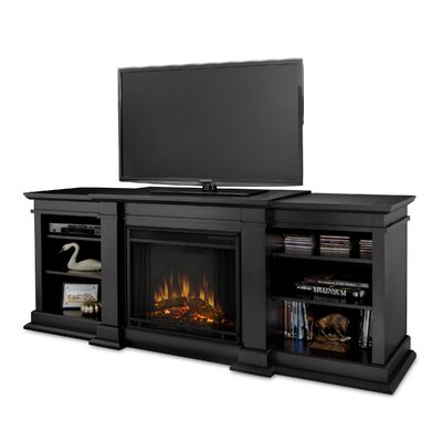 Fresno 72 TV Stand with Fireplace Color: Black