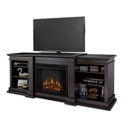Fresno 72 TV Stand with Fireplace Color: Dark Walnut