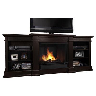 Fresno 72 TV Stand with Gel Fireplace Finish: Dark Walnut