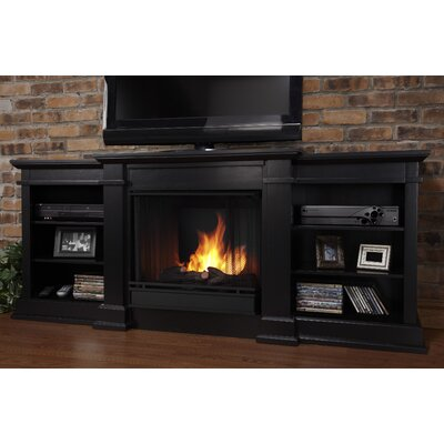 Fresno 72 TV Stand with Gel Fireplace Finish: Black