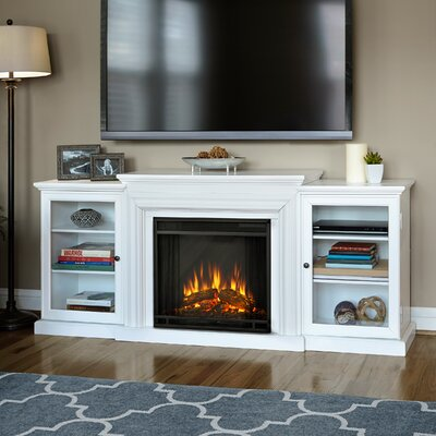 Frederick 72 TV Stand with Fireplace Color: White