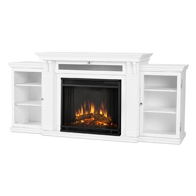 Cali 67 TV Stand with Fireplace Finish: White
