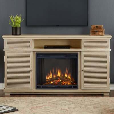 Cavallo 59 TV Stand and Fireplace Finish: Weathered White