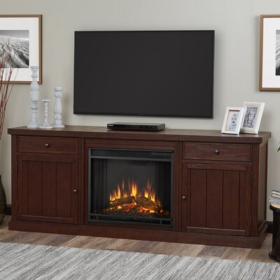 Cassidy Entertainment Unit with Electric Fireplace Finish: Oak