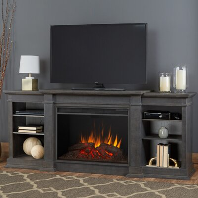 Eliot Grand 81 TV Stand with Fireplace Color: Antique Gray