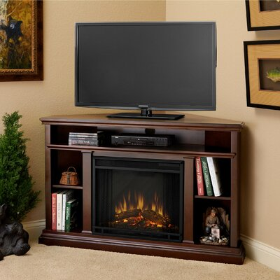 Churchill 51 TV Stand with Fireplace Color: Espresso
