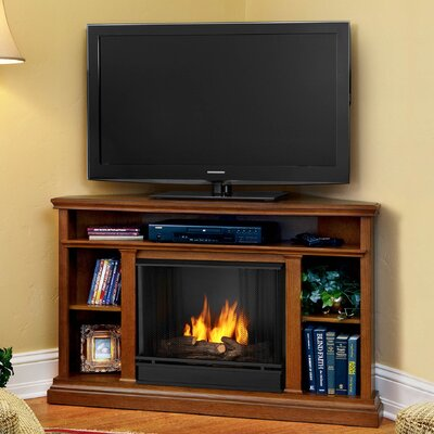 Churchill 51 TV Stand with Gel Fireplace Finish: Oak