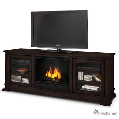 "Hudson 68"" Ventless TV Stand with Electric or Gel Fuel Fireplace Finish: Espresso, Model: Gel Fuel"