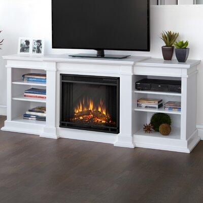 Fresno 72 TV Stand with Fireplace Finish: White