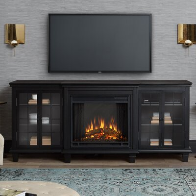 Marlowe Entertainment Unit Electric Fireplace TV Stand Finish: Black