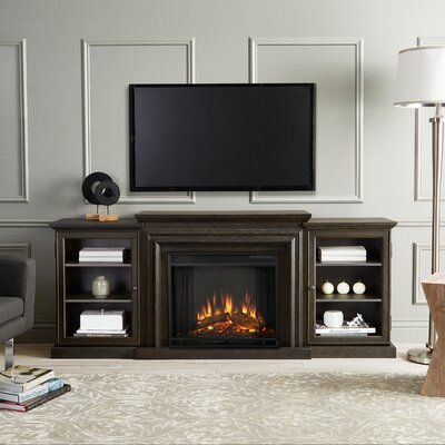 Frederick 72 TV Stand with Fireplace Color: Teakwood Gray
