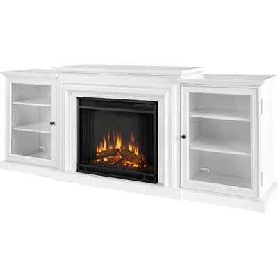 Frederick 72 TV Stand with Fireplace Finish: White