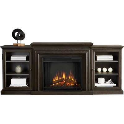 Frederick 72 TV Stand with Fireplace Finish: Teakwood Gray