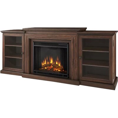 Frederick 72 TV Stand with Fireplace Finish: Chestnut Oak