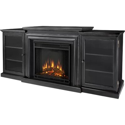Frederick 72 TV Stand with Fireplace Finish: Distressed Blackwash