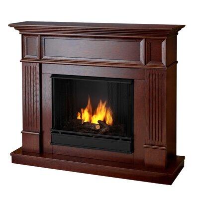 Ventless Gel Corner  Fireplace Mahogany