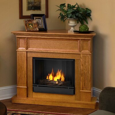 Real Flame 3150 Lo Camden Ventless Gel Fuel Corner Fireplace Finish