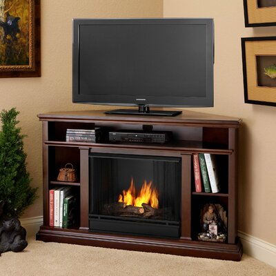 Churchill 51 TV Stand with Gel Fireplace Color: Espresso