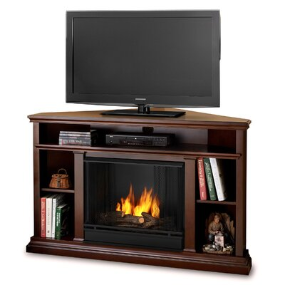 Churchill Ventless TV Stand with Gel Fuel Fireplace Finish: Dark Expresso
