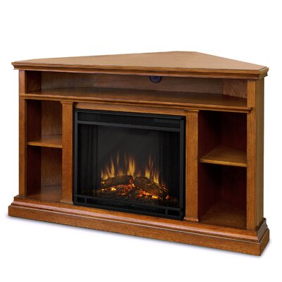 Churchill TV Stand with Electric Fireplace Finish: Oak