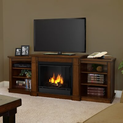 Hawthorne 75 TV Stand with Gel Fireplace Finish: Burnished Oak