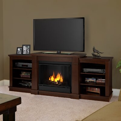 Hawthorne 75 TV Stand with Gel Fireplace Finish: Dark Espresso