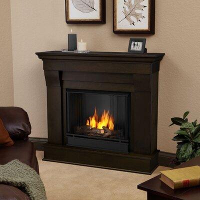 Chateau Gel Fuel Fireplace Finish: Dark Walnut