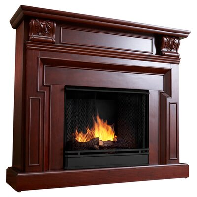 Ventless Gel Fireplace Finish: Dark Mahogany