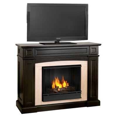 Rutherford Ventless TV Stand with Gel Fuel Fireplace Finish: Dark Walnut