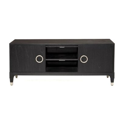 Atherton TV Stand Finish: Onyx / Brushed Stainless Steel