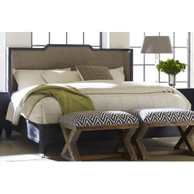 Atherton Upholstered Panel Headboard Size: King, Color: Onyx / Brushed Stainless Steel