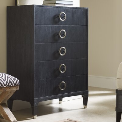 Atherton 5 Drawer Standard Chest Color: Onyx / Brushed Stainless Steel
