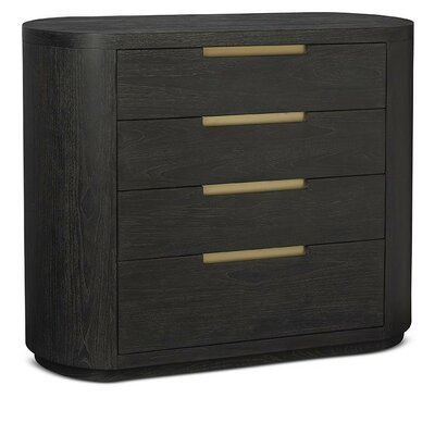 Palmer Bachelors Chest Finish: Mink with Brushed Brass Hardware