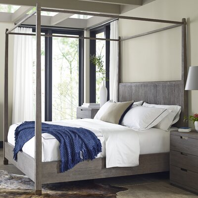 Palmer Canopy Bed Size: King, Color: Driftwood
