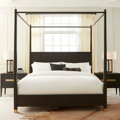 Palmer Canopy Bed Size: Queen, Color: Mink