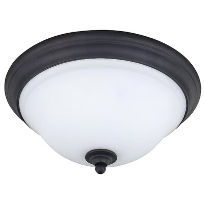 Twenty One 2-Light Flush Mount Size: 5.75 H x 15.25 W x 15.25 D