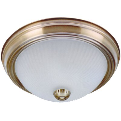 1-Light Flush Mount (Set of 2) Finish: Antique Brass