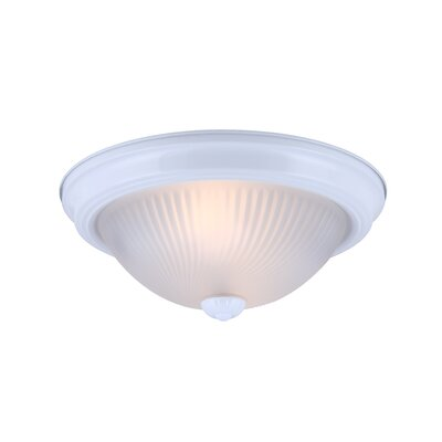 1-Light Flush Mount (Set of 2) Finish: White