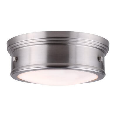 Cummingham 2-Light Flush Mount Finish: Brushed Nickel