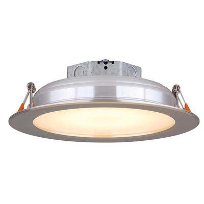 6 LED Recessed Lighting Kit Trim Finish: Brushed Nickel