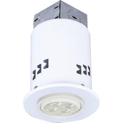 3.63 LED Recessed Lighting Kit Trim Finish: White