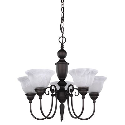 Julianna 5-Light Shaded Chandelier Finish: Oil Rubbed Bronze