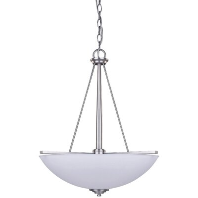 New Yorker 3-Light Bowl Pendant Finish: Brushed Pewter