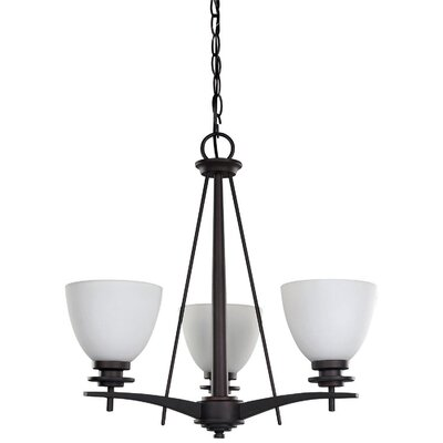 New Yorker 3-Light Shaded Chandelier