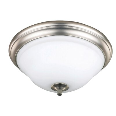 Royal Flamenco 2-Light Flush Mount Finish: Brushed Pewter
