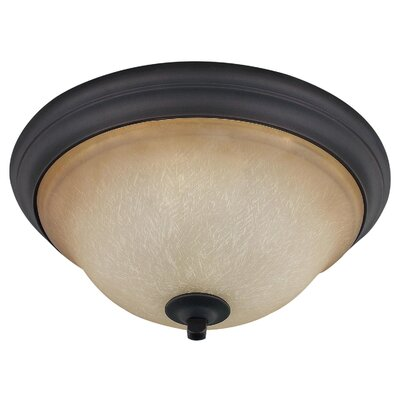 Royal Flamenco 2-Light Flush Mount Finish: Oil Rubbed Bronze